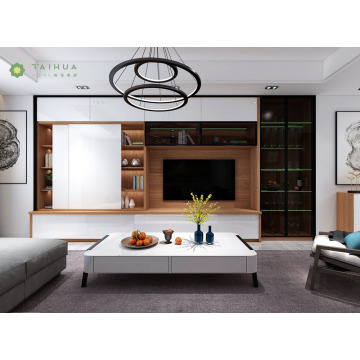 Ang naka-istilong Customized na Living Room Funiture Set Wall Unit